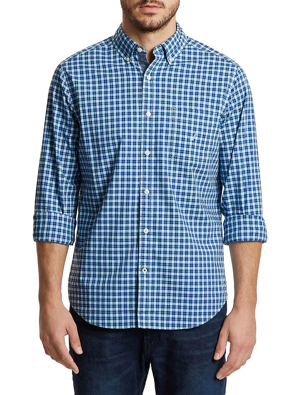 Plaid Classic-Fit Button-Down Shirt