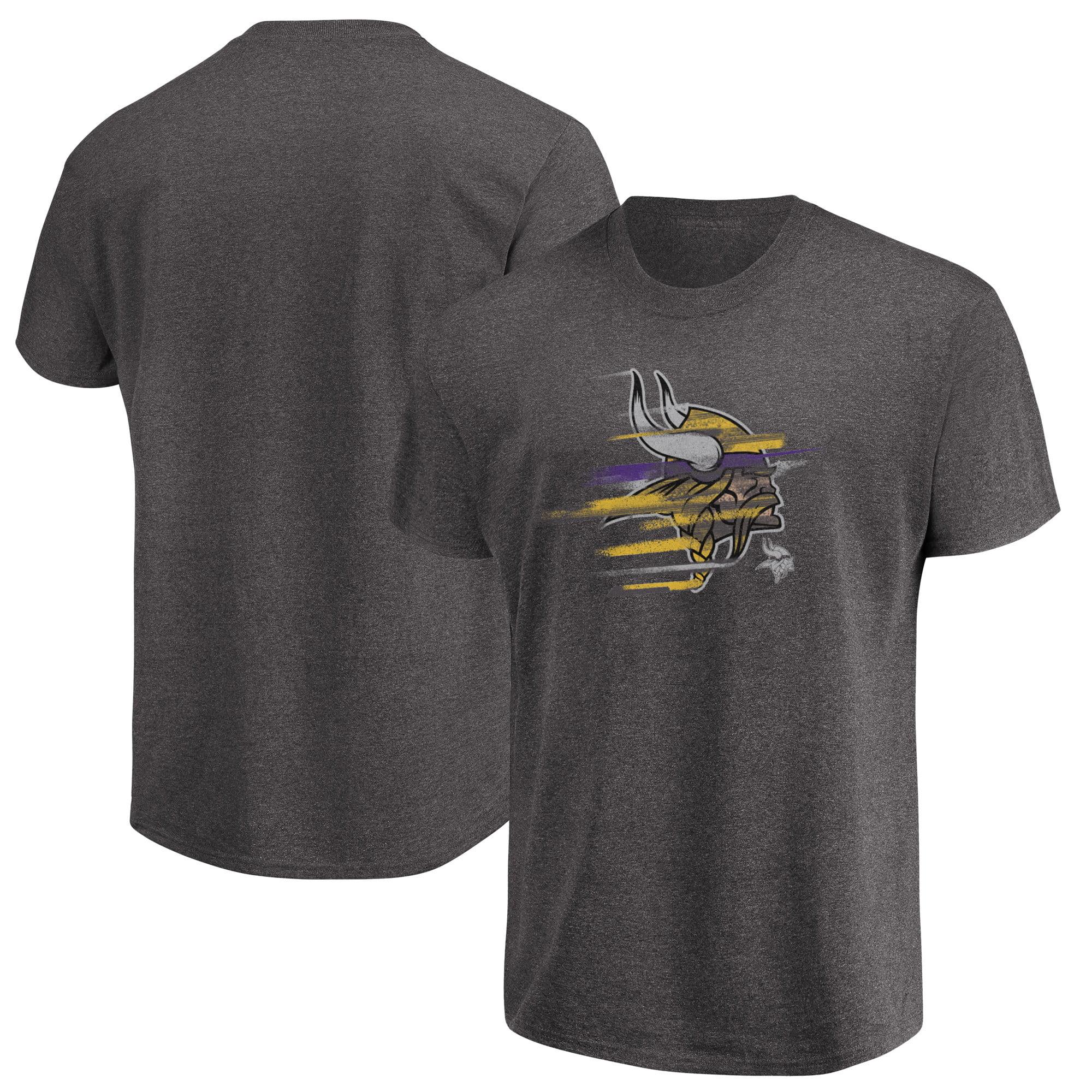 Minnesota Vikings Majestic Big & Tall Fierce Intensity T-Shirt - Heathered Charcoal