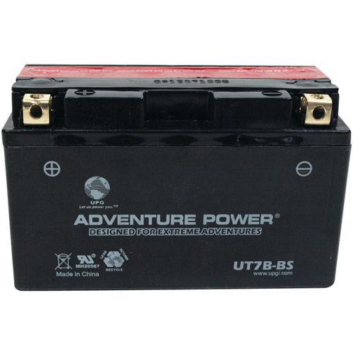 UPG 43008 UT7B-BS Dry Charge AGM Power Sports Battery