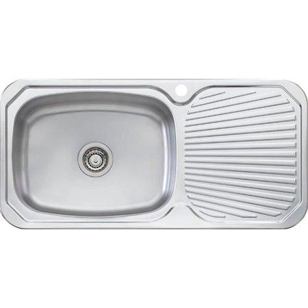 Oliveri Brisbane 38.63\'\' x 18.88\'\' Single Large Bowl Kitchen Sink ...