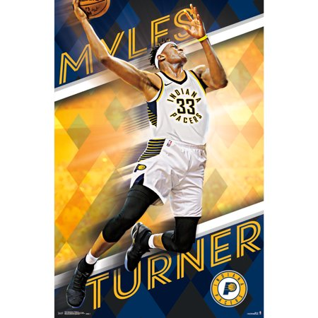 Indiana Pacers 22'' x 34'' Myles Turner Poster