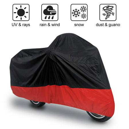 180T Motorcycle Motor Bike Scooter Waterproof UV Dust Protector Rain Cover L
