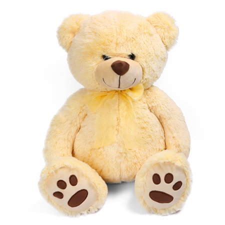 1.4 FT Cute Teddy Bear, Soft Small Stuffed Animal Plush Toy, Birthday Gifts for Kids, Beige (Anime For Kids)