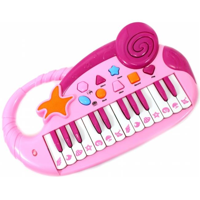 AZ Trading & Import PS90A Pink Kids Electronic Piano Keyboard with Record & Playback, Pink