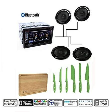 Kenwood DDX372BT Double DIN Bluetooth DVD/AM/FM Car Stereo Kenwood KFC-6965S 6