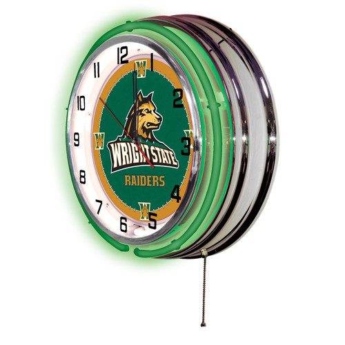 "Wright State Raiders 19"" Neon Clock"