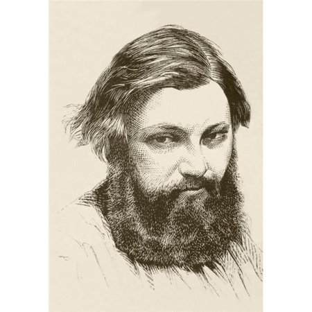 Posterazzi DPI1872552 Jean Dsir Gustave Courbet, 1819 to 1877 French Artist From A 19th Century Illustration Poster Print, 12 x 17 - image 1 de 1
