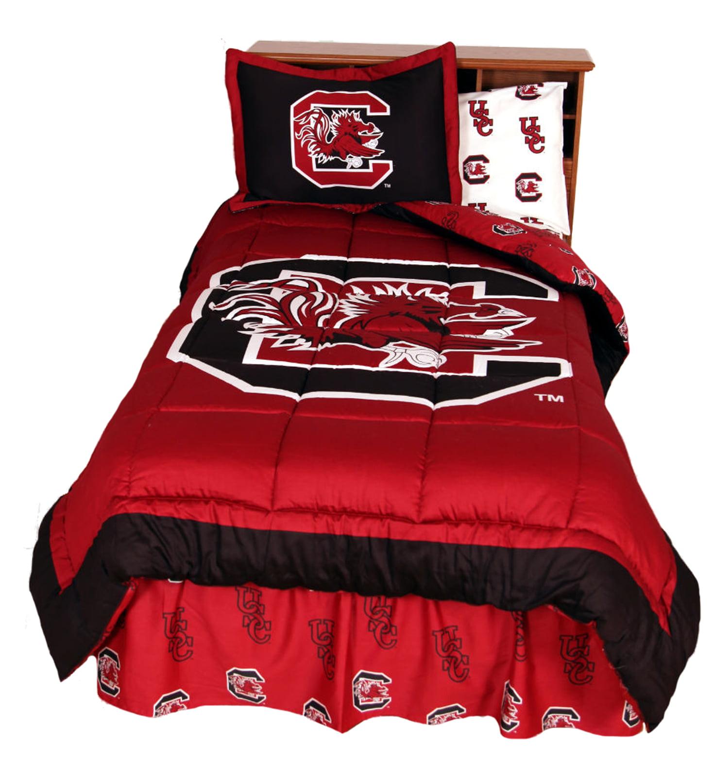 South Carolina Gamecocks 2 Pc Comforter Set, 1 Comforter, 1 Sham, Twin