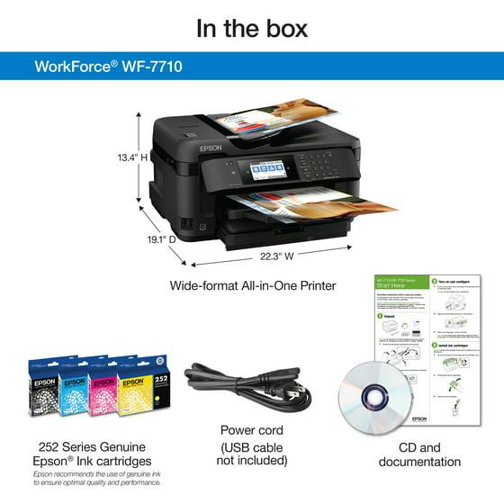 Epson WorkForce WF-7710 Wireless Wide-format Color Inkjet