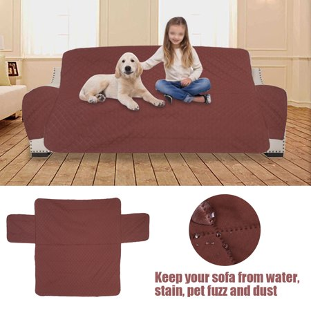 Zerone 1 2 3 Seat Waterproof Quilted Sofa Cover Slipcover Pet Dog Cat Couch