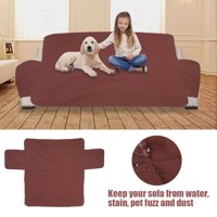 WALFRONT 1/2/3 Seat Waterproof Quilted Sofa Cover Slipcover Pet Dog Couch Chair Furniture Protector,Sofa Cover, Couch Cover