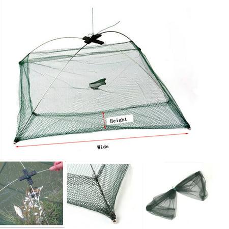 Nets Fish Fishing Bait (Folded Fishing Umbrella Dip Net Crab Bait Cast Lures Dip Net Fish Shrimp Minnow Crab Baits Cast Net Mesh Trap 2 Size )