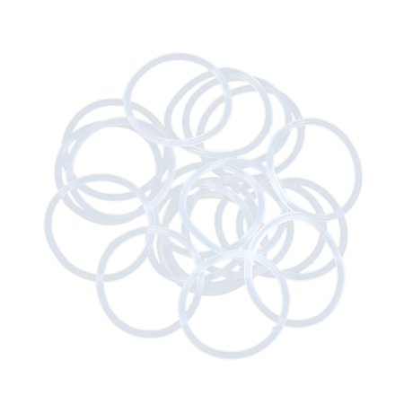 20pcs White Silicone Rubber O-Ring Seal Gasket Washer 24 x 1.5mm for - Silicone Rubber O-ring