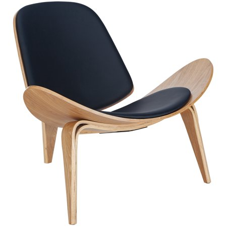 Poly and Bark Curved Plywood Lounge Chair in Natural