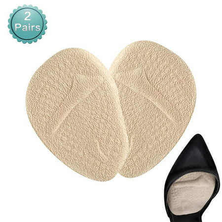 Foot Gloves Shoes - 2 Pairs Women Ball of Foot Cushions Anti-slip Shoe Pads Inserts Gel Forefoot Insoles