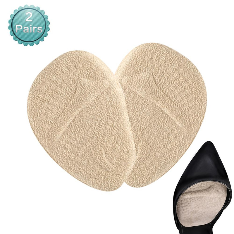 2 Pairs Women Ball of Foot Cushions Anti-slip Shoe Pads Inserts Gel Forefoot Insoles