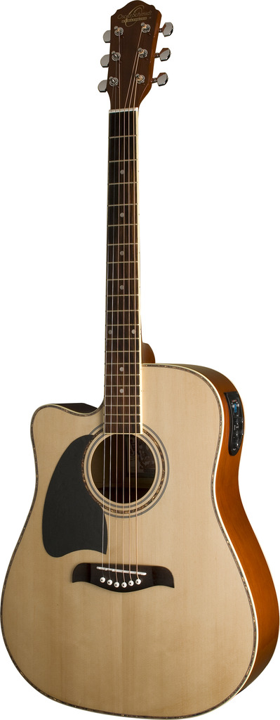 Oscar Schmidt LEFT HAND A E Guitar, 4 Band Active EQ Tuner, Natural, OG2CELH by Oscar Schmidt