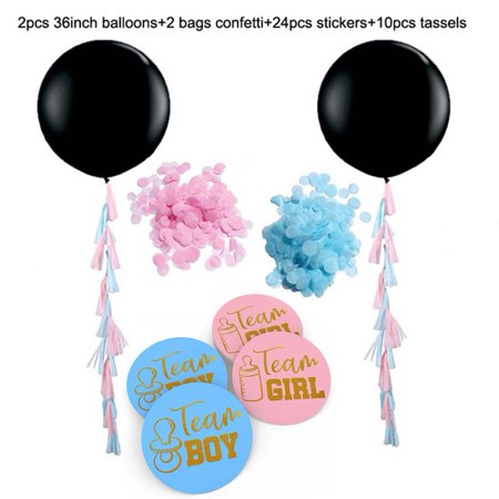 38 pcs Gender Reveal Party Decorations Balloons Kits 36inch Large Girl Or Boy Latex Balloons Team Boy/Girl Vote Stickers (new listing)