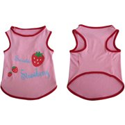 Iconic Pet Pretty Pet Pink Strawberry Top, Medium