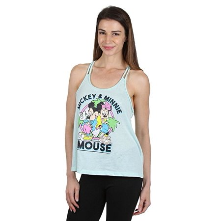 Mickey & Minnie Mouse Braided Racerback Tank Top Teal Small - Minnie Mouse Tank Top