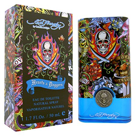 Jason Natural Fragrance - New Wave Fragrances Ed Hardy Hearts & Daggers Eau De Toilette Natural Spray, 1.7 oz