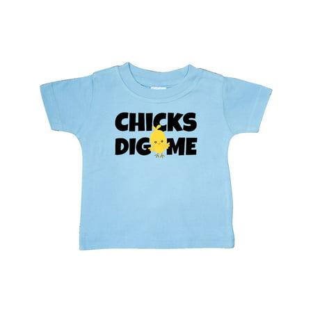 ce8593943 chicks dig me Baby T-Shirt - Walmart.com