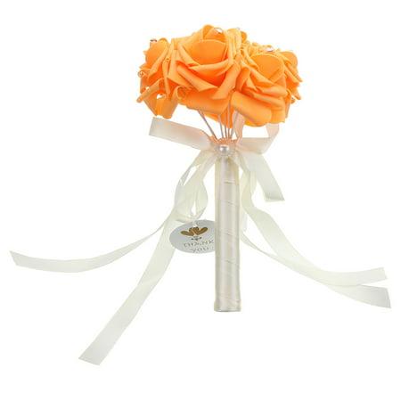1 Bunch Aartificial Rose Flower Craft Flower Bridal Rhinestone Crystal Bouquet Wedding Party Decor  - image 1 de 6