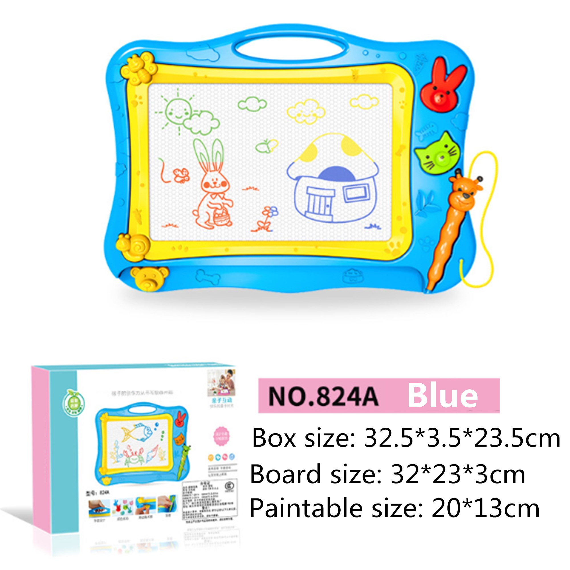 Magnetic Drawing Board Sketch Doodle Pad with Pen for Children Kid Xmas Gift USA