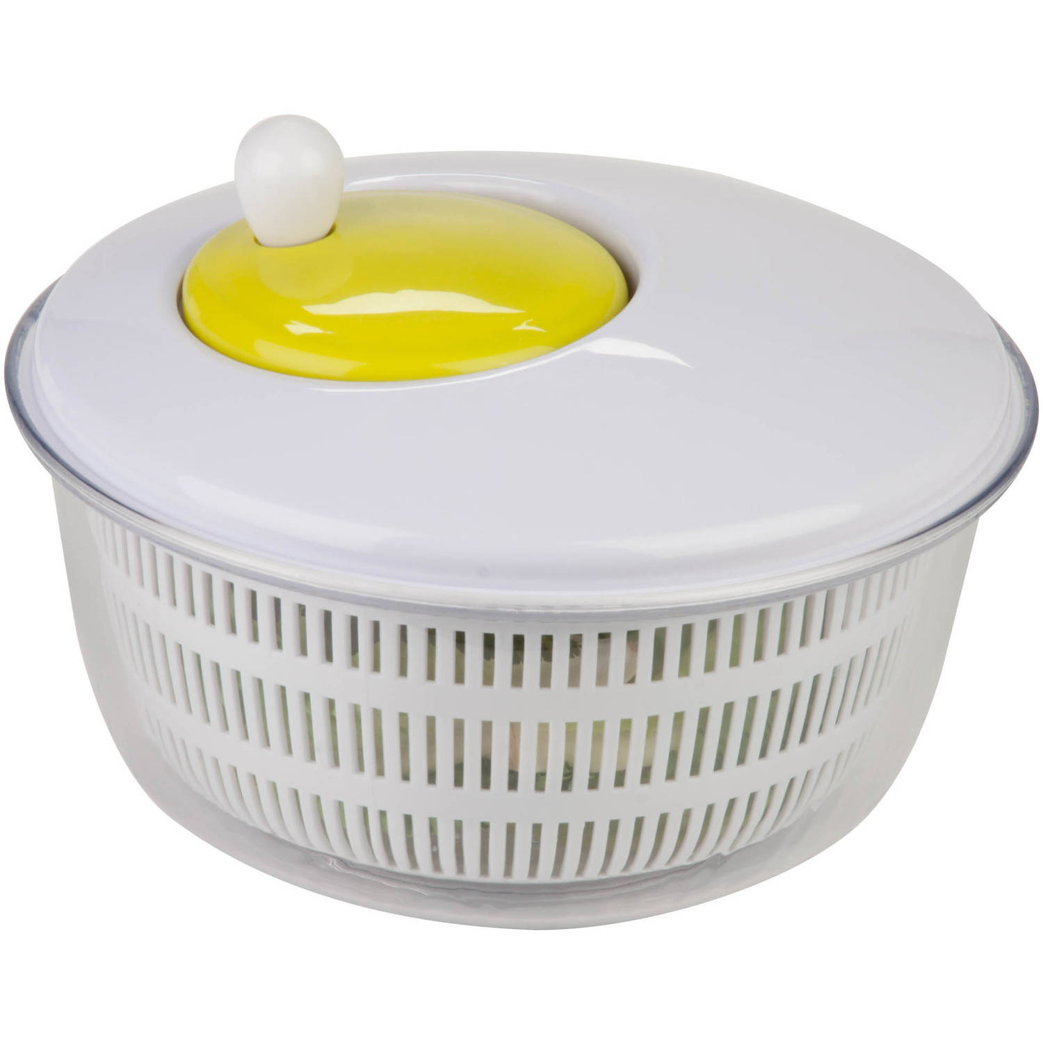 Honey Can Do Salad Spinner with Removable Colander, White