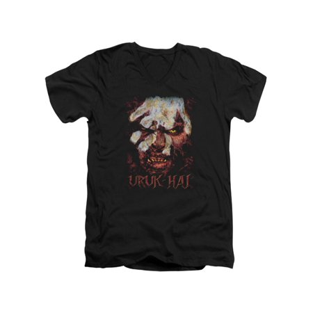 The Lord of The Rings Movie Lurtz Uruk Hai Stare Adult V-Neck T-Shirt