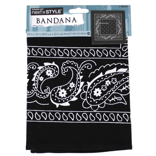Next Style Single Bandana, Paisley Black
