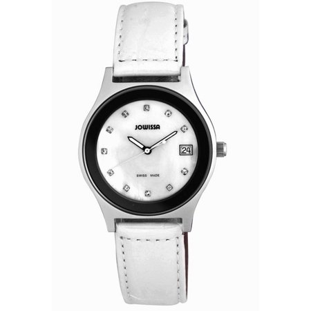 Women's J4.101.L Siena Stainless Steel MOP Dial White Leather (Leather White Mop Dial)