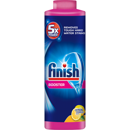Finish Hard Water Booster Powder  Lemon Sparkle  14 Oz