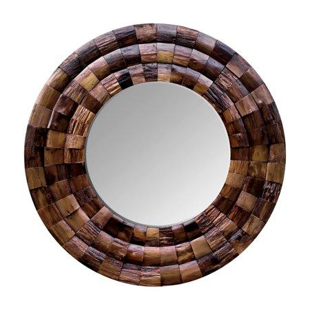 Varaluz Casa - Wine Country Reclaimed Wood Circular Mirror