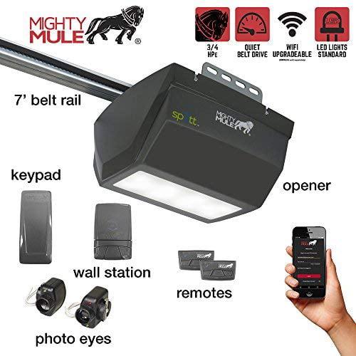 Mighty Mule MM9333H Whisper Quiet 3/4HP belt drive Garage Door Opener - 1 LED panel