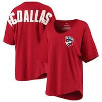FC Dallas Fanatics Branded Women's Spirit Jersey V-Neck T-Shirt - Red
