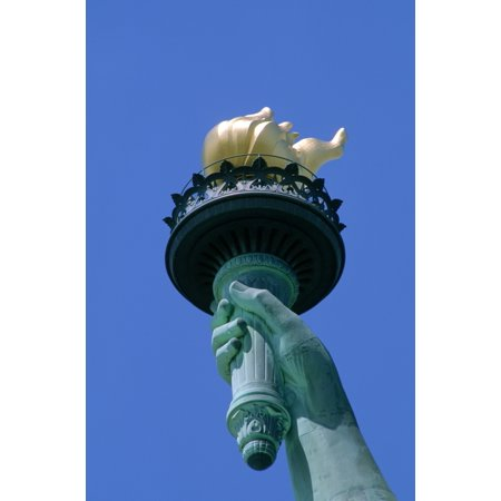 RWatts Close-Up Of Torch Of Statue Of Liberty New York Ny PosterPrint (Statue Of Liberty Torch)