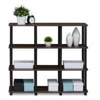 Deals on Furinno 16106WN/BR Turn-N-Tube 9 Space Shelf