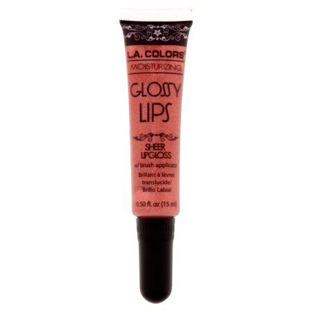 L.A. Colors Moisturizing Glossy Lips Berry Smoothie Sheer Lipgloss w/ Brush Applicator, 0.50 fl