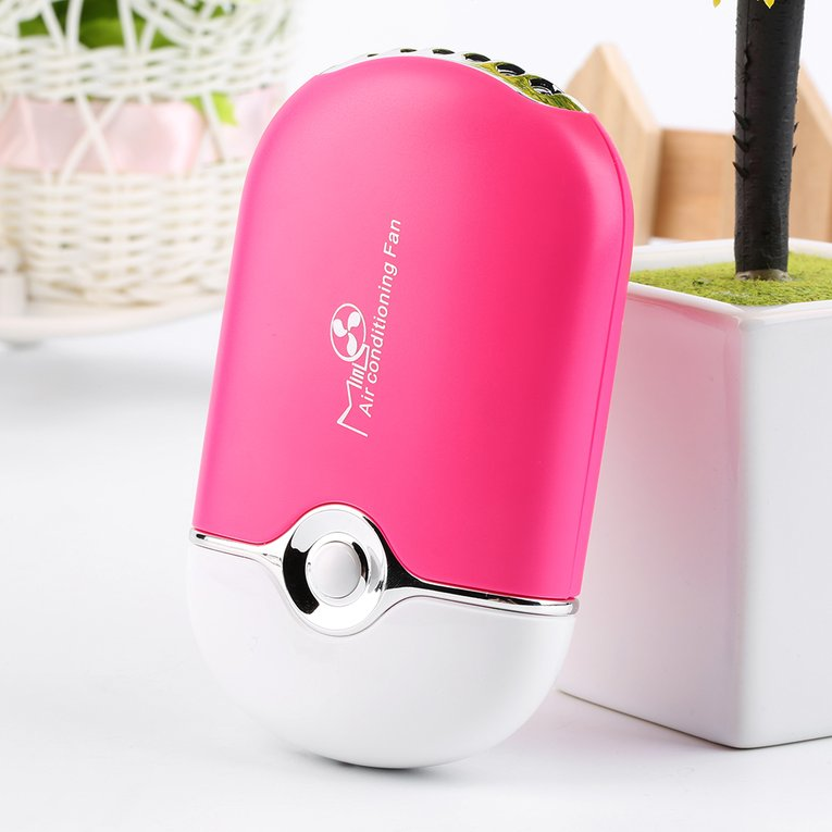 Rechargeable Portable Mini Handheld Air Conditioning Cooling Fan USB Cooler by