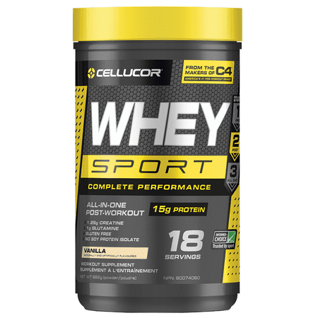 Cellucor Whey Sport, Whey Protein Powder, Vanilla, 1.8Lb, 18