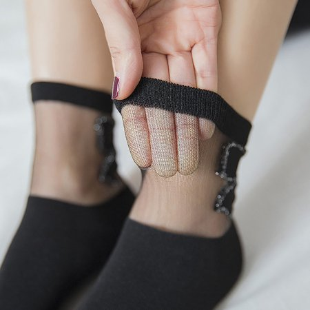 Little Stockings (Outtop Women New Ultra-thin Elastic Short Silk Little Pineapple Heap)