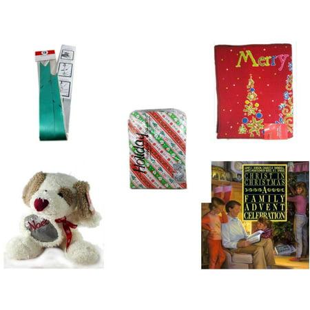 Christmas Fun Gift Bundle [5 Piece] - Myco's Best Pull Bows Set of 10 - Merry  Door Mat  17.5