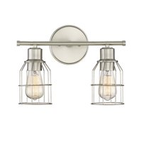 "Trade Winds Peyton 2-Light 15"" Bathroom Vanity Light in Brushed Nickel"