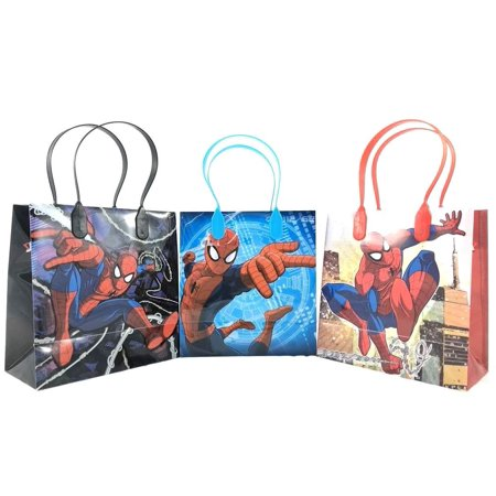 Spiderman Birthday Favors (Spiderman Party Favor Goodie Small Gift Bags 12)