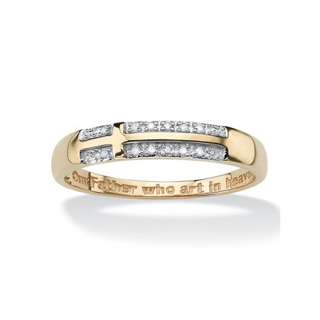 Mens Wedding Bands Cross - Men's Diamond Accent