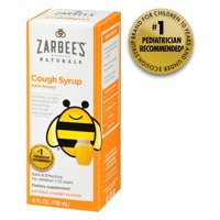 Zarbee's Naturals Children's Cough Syrup with Dark Honey, Natural Cherry Flavor , 4 Fl. Ounces (1 Box)