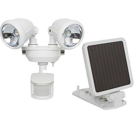 Maxsa 44217 Solar-powered Dual Head Led Security Spotlight [white] by
