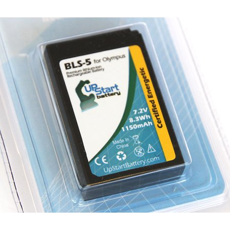 UpStart Battery Olympus E-PM2 Battery - Replacement for Olympus BLS-5 Digital Camera Battery (1150mAh, 7.4V, Lithium-Ion)