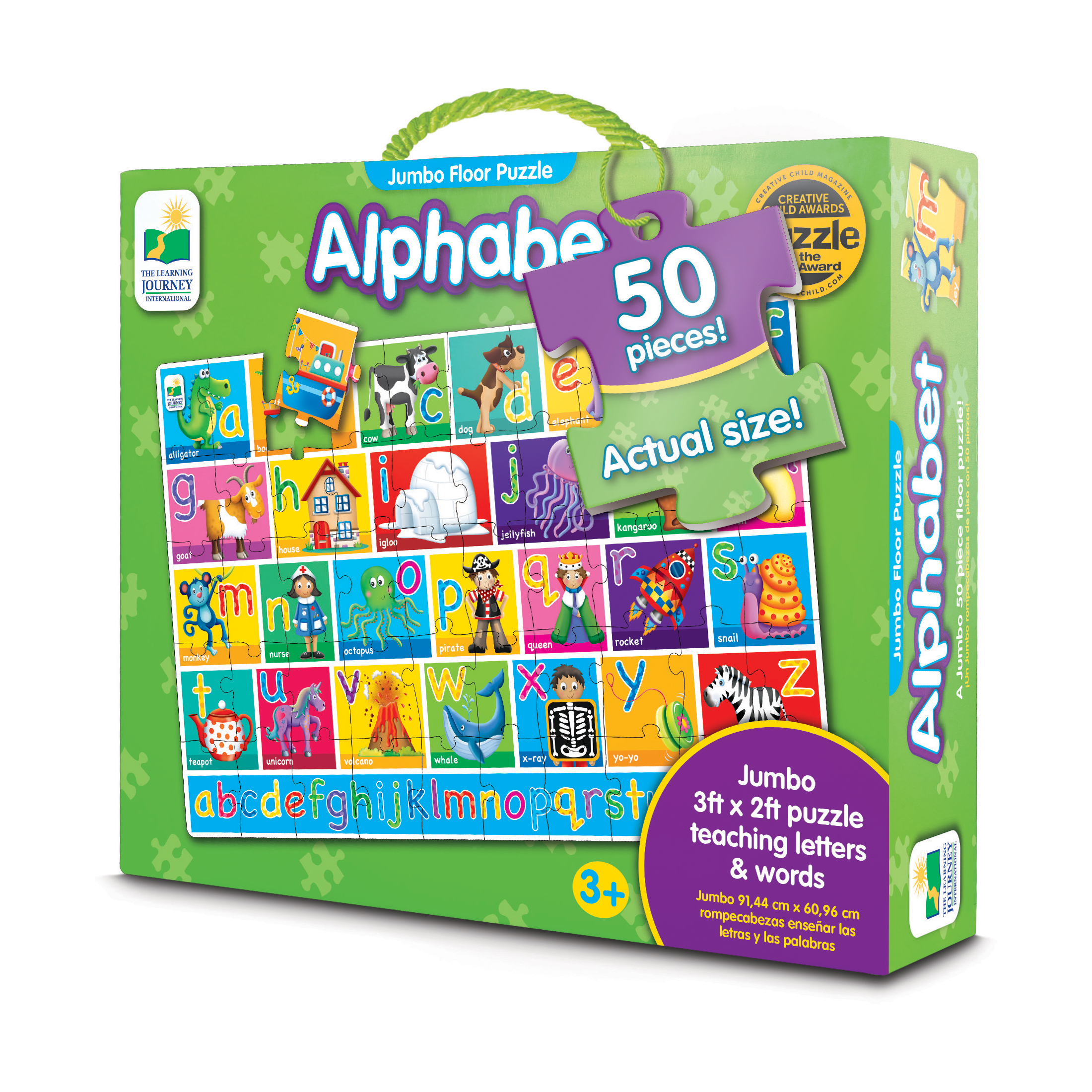 The Learning Journey Jumbo Floor Puzzles, Alphabet Floor Puzzle by The Learning Journey